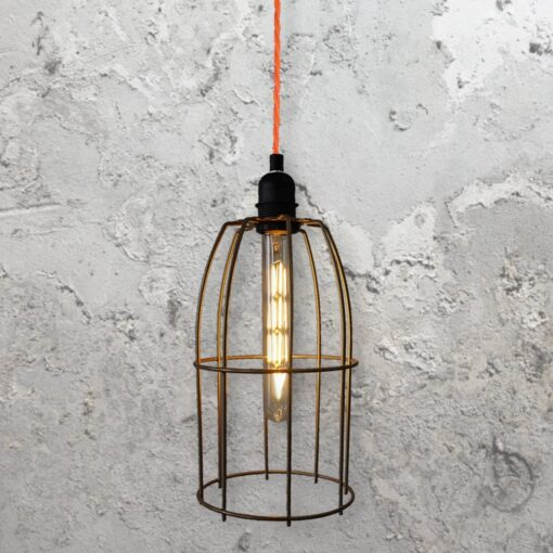 Wire Cage Pendant Light