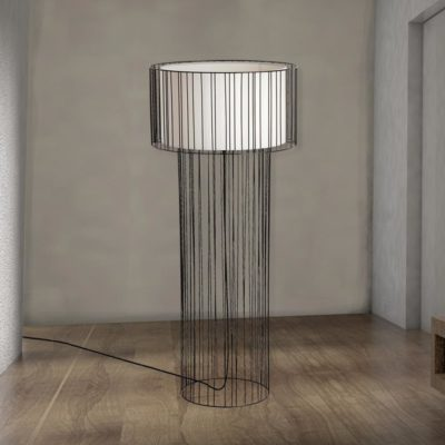 Black Wire Frame Floor Lamp