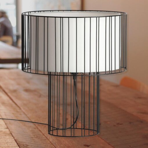 Wire Frame Table Lamp
