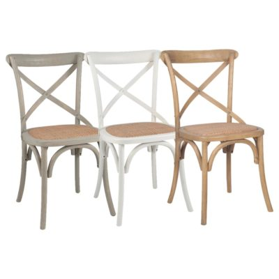 Wood Rattan Dining Chair