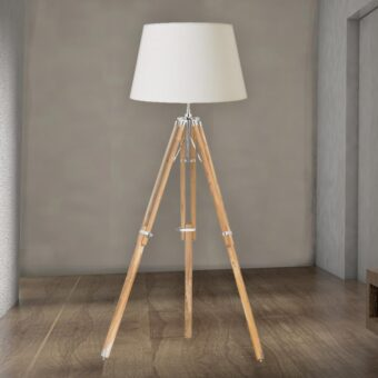 Wood Tripod Floor Lamp Base