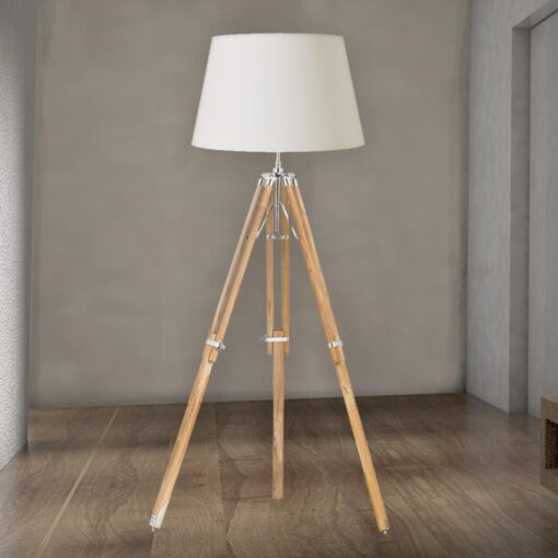 Wood Tripod Floor Lamp Base