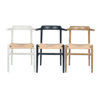 Wooden Bamboo Dining Chair With Arms