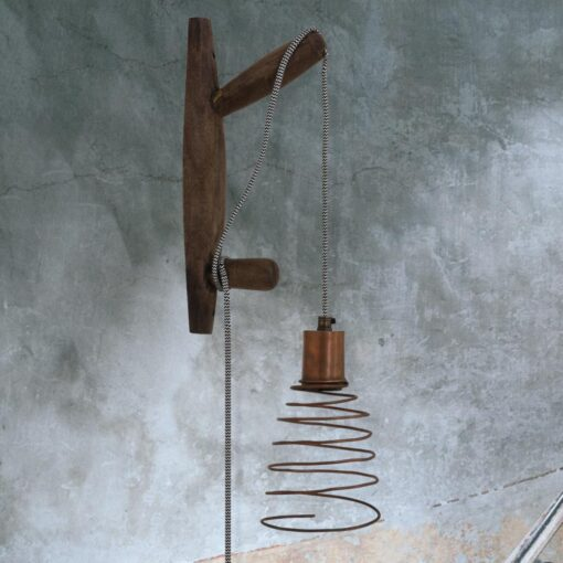 Wooden Barn Wall Light