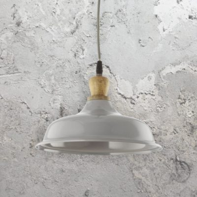 Wooden Metal Gloss Pendant Light