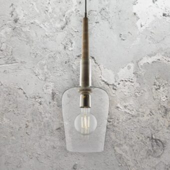 Wooden Rod Glass Pendant Light
