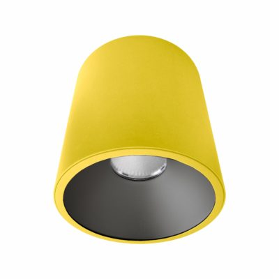 Yellow Black Surface Mounted LED Downlight