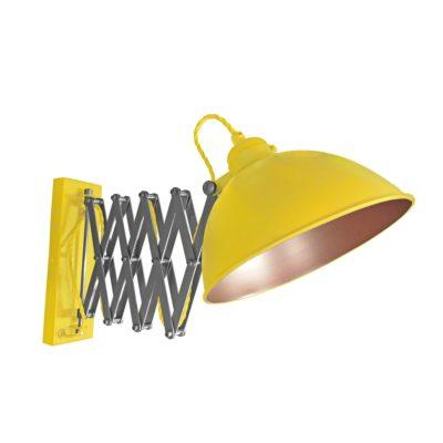 Yellow Scissor Arm Wall Light Bronze Inner