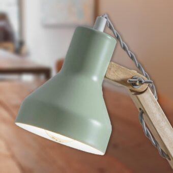 Green Wooden Desk Lamp