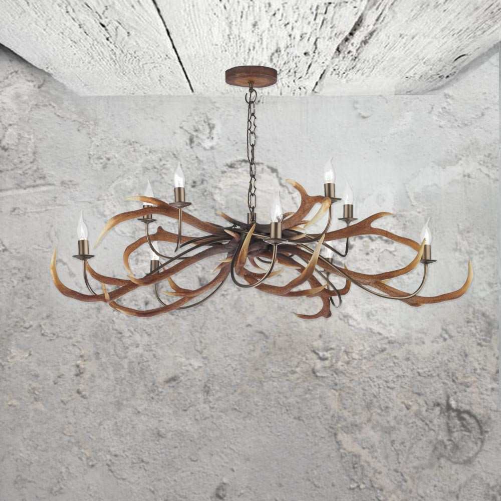 10 light antler chandelier cl 24721 e2 contract lighting uk 10 light antler chandelier aloadofball Images