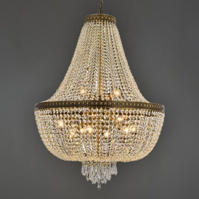 11 Light Bronze Empire Crystal Chandelier