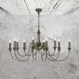 12 Light Bronze Chandelier