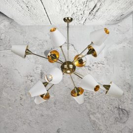12 Light Contemporary Brass Chandelier