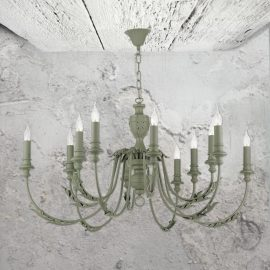12 Light Grey Chandelier