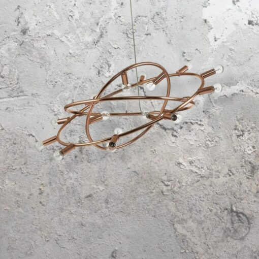 15 Light Copper Chandelier