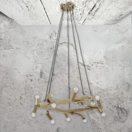 20 Light Brass Chandelier