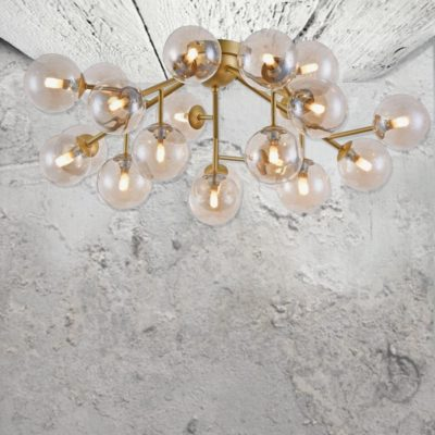 20 Light Modern Flush Chandelier