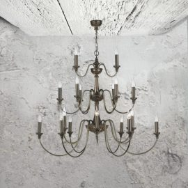 21 Light Bronze Chandelier