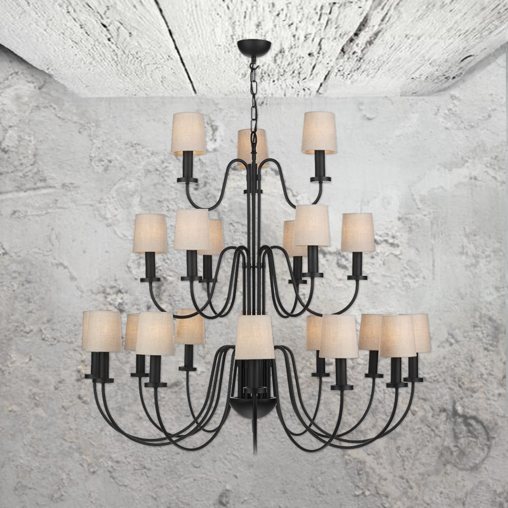 21 light three tier black chandelier cl 32110 e2 contract lighting 21 light three tier black chandelier aloadofball Image collections