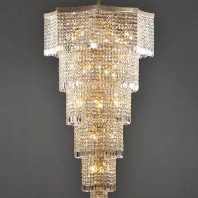 27 Light Bronze Moroccan Crystal Chandelier