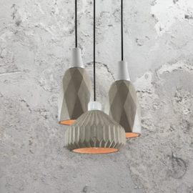 3 Light Concrete Pendant