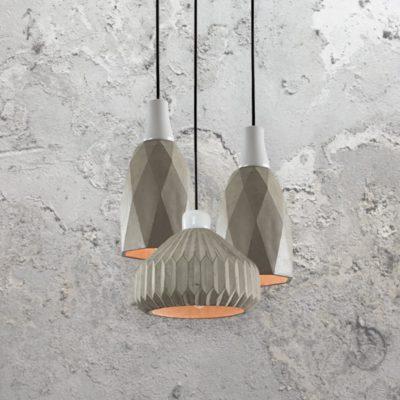 3 Light Concrete Pendant