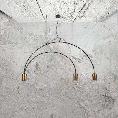 3 Light Contemporary Copper Pendant