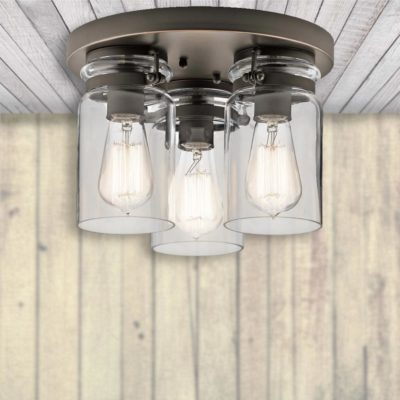 3 Light Glass Flush,glass flush ceiling light