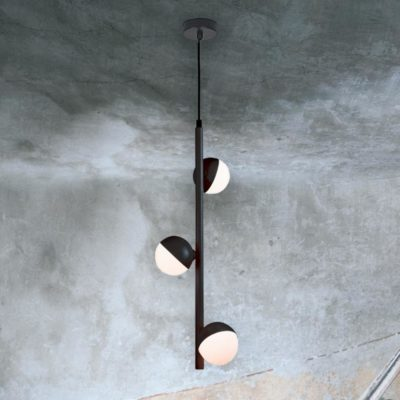 3 Light Vertical Globe Pendant
