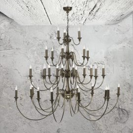 33 Light Bronze Chandelier