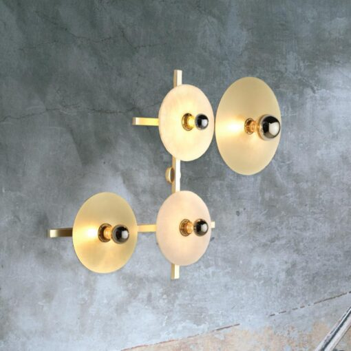 4 Light Circular Wall Light