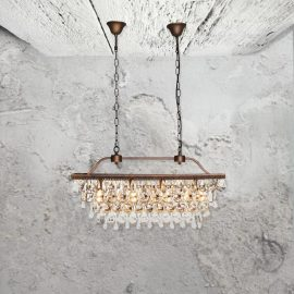 4 Light Crystal Droplets Chandelier