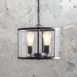 4 Light Glass Cylinder Pendant