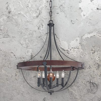 5 Light Rustic Farmhouse Chandelier