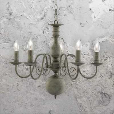 5 Light Rustic Grey Chandelier