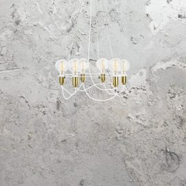 6 Light Minimal Contemporary Chandelier