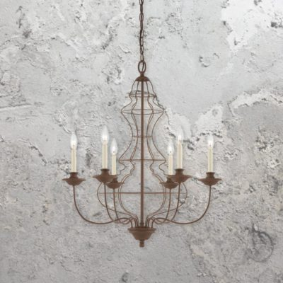 6 Light Rustic Bronze Chandelier