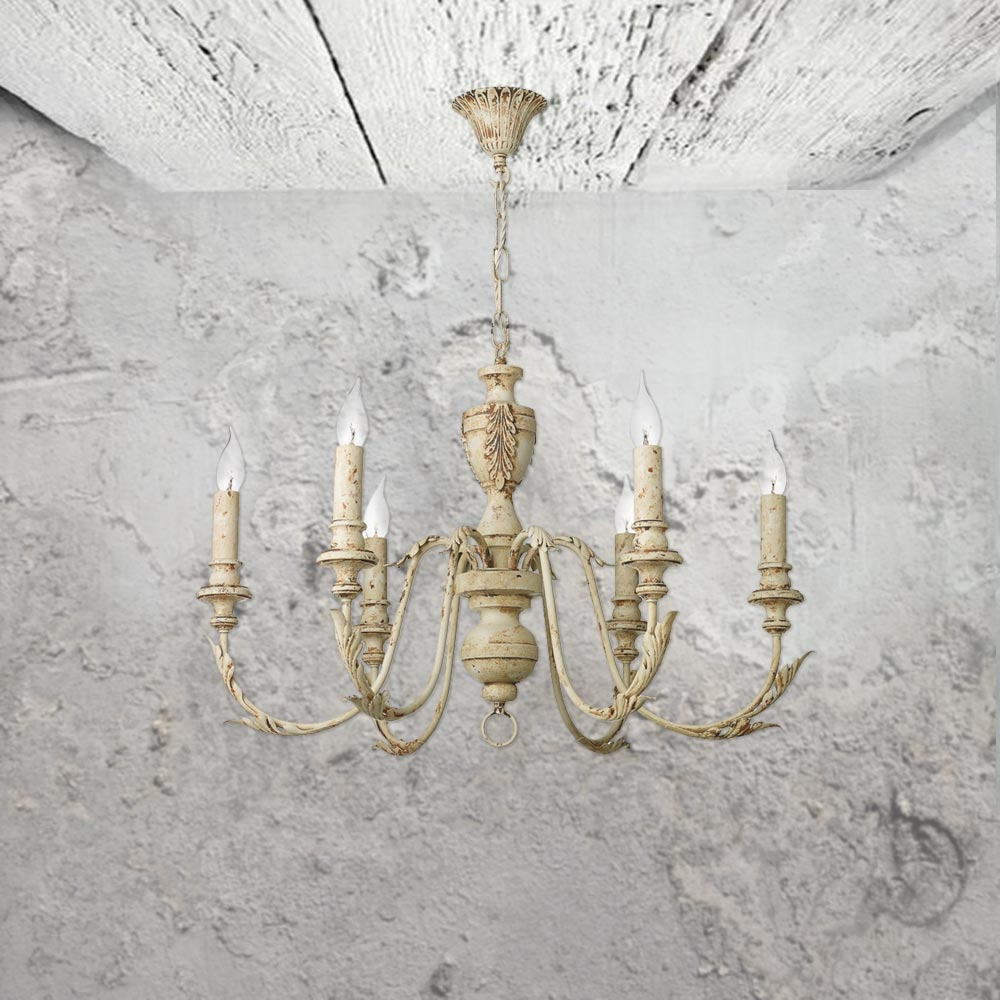 6 light rustic french chandelier cl 34752 e2 contract lighting uk 6 light rustic french chandelier aloadofball Gallery