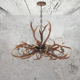 8 Light Antler Chandelier