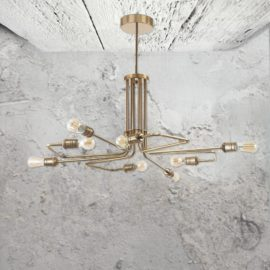 8 Light Brass Chandelier