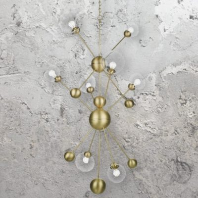 8 Light Brass Sputnik Chandelier