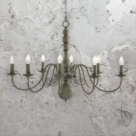 8 Light Rustic Grey Chandelier