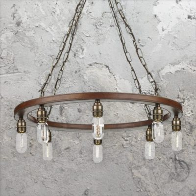 8 Light Rustic Ring Chandelier