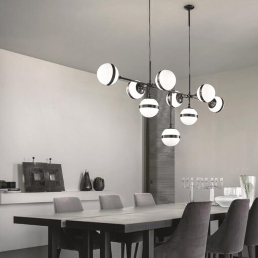 9 Light Designer Globe Chandelier