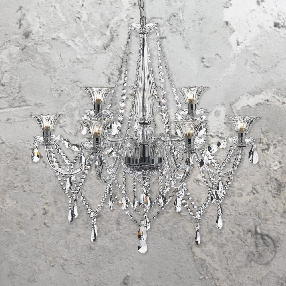 9 light luxury crystal glass chandelier e2 contract lighting uk 9 light luxury crystal glass chandelier aloadofball Images