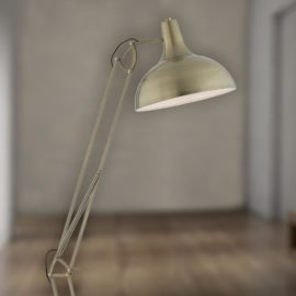 Adjustable Antique Brass Floor Lamp