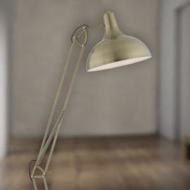 Adjustable Antique Brass Floor Lamp
