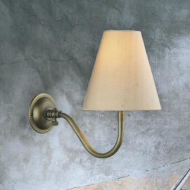 Adjustable Antique Brass Wall Bracket