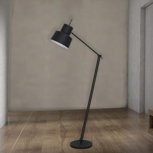 Black Adjustable Industrial Floor Lamp