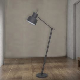 Grey Adjustable Industrial Floor Lamp